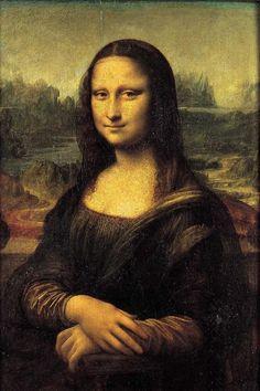 The Mona Lisa- Leonardo da Vinci Famous Paintings Michelangelo, Famous Artists Paintings, Old Paintings, Famous Artwork, Famous Art Pieces, 7 Arts, Mona Lisa Parody, Classic Paintings, Classical Art