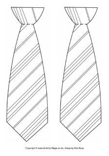 Striped tie template. we made these out of print paper last year?