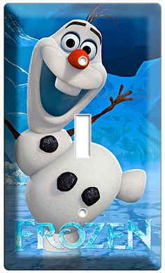 x Funny smiling snowman these Olaf Disney frozen single light switch cover wall plates children's bedroom leaving room decoration
