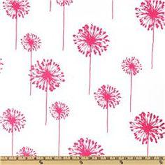 Premier Prints Dandelion White/Candy Pink. FUN! On sale for $7.48 per yard. #fabric