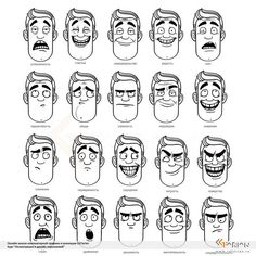 Ideas Drawing Faces Cartoon Facial Expressions Character Design For 2019 - Ideas Drawing Faces Cartoon Facial Expressions Character Design For 2019 - - Man Emotions Face ‎Эмоции (туториалы)‎ draw facial expression My bookmarks -, Рисование эмоций Cartoon Faces Expressions, Drawing Cartoon Faces, Cartoon Expression, Drawing Expressions, Cartoon Sketches, Cartoon Cartoon, Character Design Animation, Character Design References, Character Drawing