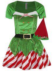 Mrs Elf Fancy Dress Costume