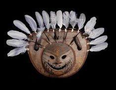 Nepcetat (One That Sticks to the Face) Mask, about 1840–60. Central Yup'ik, probably lower Yukon River, Alaska. Thaw Collection, Fenimore Art Museum, Cooperstown, N.Y., T0231. Photograph by John Bigelow Taylor.