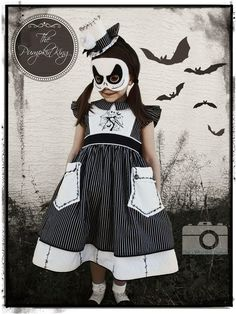 Girls Jack Skellington Costume: That's What SHE Crafted