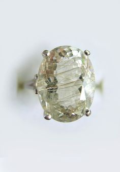 Champagne Rutile Quartz In Sterling Silver Coctail by GemsBerry, $99.00