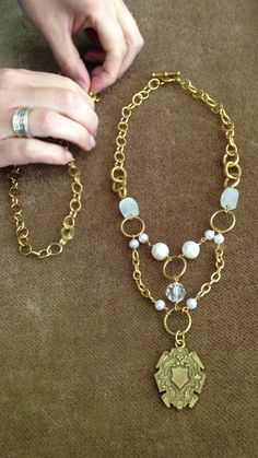 Connecting the Eve Necklace and the Classic Necklace #vintagejewelry