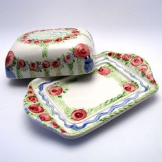"""DOSEN """"Rosa-BluVerde"""" Butter Dish, Dishes, Pink, Tablewares, Dish, Signs, Dinnerware"""