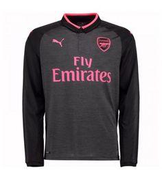 Billiga Arsenal Tredje Tröja 17-18 Långärmad Arsenal Fc, Manchester United, Premier League, Graphic Sweatshirt, Sweatshirts, Sweaters, Jackets, Fashion, Goaltender