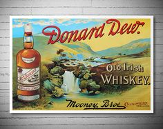 Donard Dew Old Irish Whisky Food&Drink Poster  Poster by WallArty