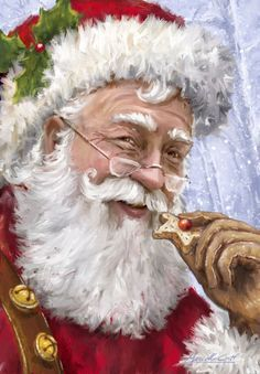 """SANTA CLAUS LOVES COOKIES"" Artist: Marcello Corti - XM1788.jpg"