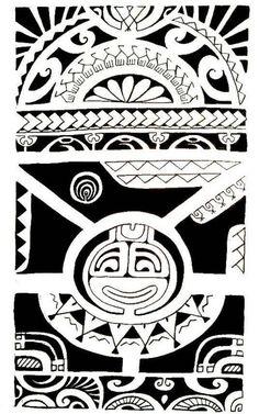 Jooli Dessin ou Croquis pour Tatouage Maori Marquisien