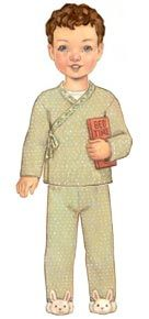 digital bedtime story pajamas sewing pattern