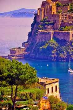 Castello Aragonese in Ischia, Gulf of Naples, Italy.
