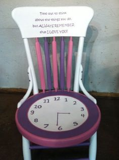 girl time out chair