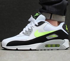 Nike Air Max 90 Essential – White / Volt – Black – Wolf Grey
