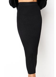 ae3fa9f7d3db Women's Bodycon Style Midi Skirt - Stretchy Fabric / 2