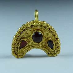 Stunning Ancient Roman Gold Lunula Pendant 3rd 4th Century Ad   eBay
