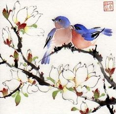 Spring Fragrance (copyrighted-2012), painting by artist Jinghua Gao Dalia