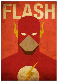 Vintage Minimalist Flash Poster A3 Prints by MyGeekPosters on Etsy