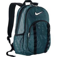 Nike Brasilia Mesh Backpack  TurquoiseBlack *** Read more reviews of the product by visiting the link on the image.