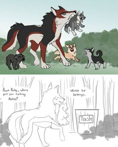 Best Aunt by fairytalekitty Wolf Packs, Cute Wolf Drawings, Drawing Face Expressions, Anime Wolf Drawing, Body Study, Meaningful Pictures, Wolf Spirit Animal, Creature Drawings, Animal Jokes