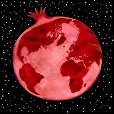 POMEGRANATE~Planet Pomegranate site, Illustration by Rick Tulka