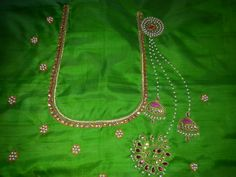Maggam Work Designs, Work Blouse, Blouse Designs, Clothes For Women, Deco, Simple, Ethnic, Model, Stitching