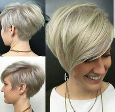 "How to style the Pixie cut? Despite what we think of short cuts , it is possible to play with his hair and to style his Pixie cut as he pleases. For a hairstyle with a ""so chic"" and pointed… Continue Reading → Long Pixie Cuts, Short Hair Cuts, Short Hair Styles, Asymmetrical Pixie Haircut, Short Pixie, Pixie Bob, Pixie Haircut Long, Women Pixie Haircut, Cute Pixie Haircuts"