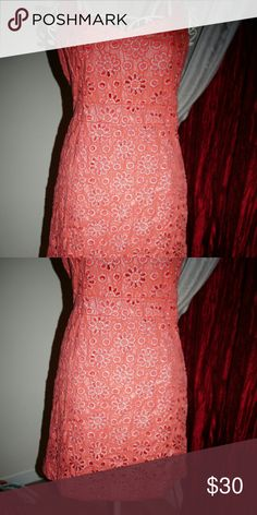 Maeve Coral  sliver dress size 8 Like new condition Length 36 bust 36 waist 30 hip 40 maeve Dresses Midi