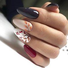 Fall Acrylic Nails, Autumn Nails, Winter Nails, Fall Nail Art Designs, Cute Nail Designs, Red Nail Art, Red Nails, Simple Fall Nails, Nagellack Trends