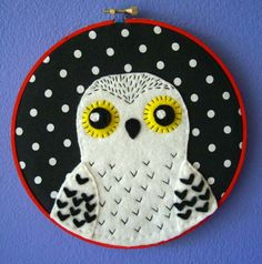 Harry Potter Hedwig Embroidery Hoop 7 inches