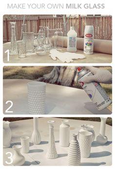 DIY - Hazlo tu mismo - milk glass