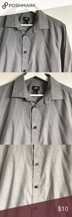 H&M Men's Grey Button-down Shirt H&M Men's Grey Button-down Shirt H&M Shirts Casual Button Down Shirts