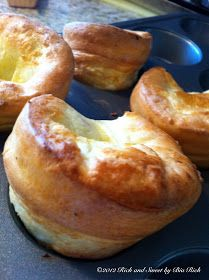 If there's a roast and gravy, there has to be yorkshire pudding.  It's the perfect popover, very light in taste and just perfect filled wit...