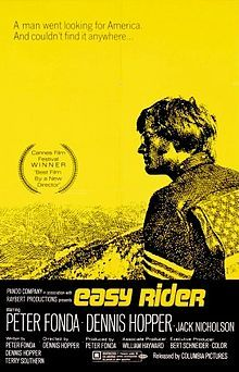 Easy Rider (1969) Easy Rider is a 1969 American road movie written by Peter Fonda, Dennis Hopper, and Terry Southern, produced by Fonda and directed by Hopper.