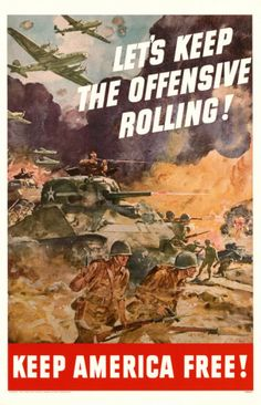 Vintage WWII Poster - People should be posting these nowadays.
