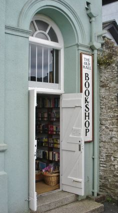 Looe Cornwall, Cornwall England, Literary Travel, Shop Fronts, Library Books, Reading Books, Reading Lists, Book Nooks, I Love Books