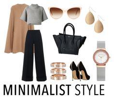 """Minimalist Style"" by cuca-calambres ❤ liked on Polyvore featuring Oscar de la Renta, CO, REGULATION by Yohji Yamamoto, CÉLINE, Skagen, Repossi, Red Camel, STELLA McCARTNEY, Casadei and black"
