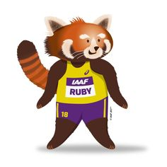 RUBY THE RED PANDA, THE OFFICIAL MASCOT FOR THE IAAF WORLD INDOOR CHAMPIONSHIPS BIRMINGHAM 2018