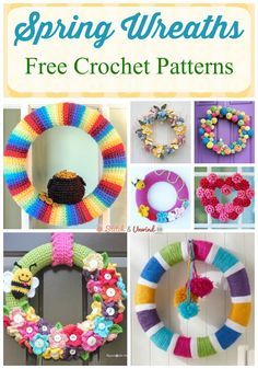 Spring Wreaths: Free Crochet Patterns