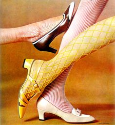vintagefashionandbeauty: Vitality shoes, 1968