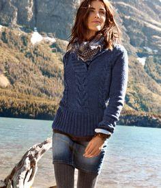 Love the skirt, sweater combo!