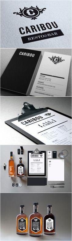 Fab Caribou by Maxime Brunelle identity packaging branding PD Brand Identity Design, Menu Design, Corporate Design, Graphic Design Typography, Branding Design, Logo Design, Identity Branding, Corporate Identity, Visual Identity