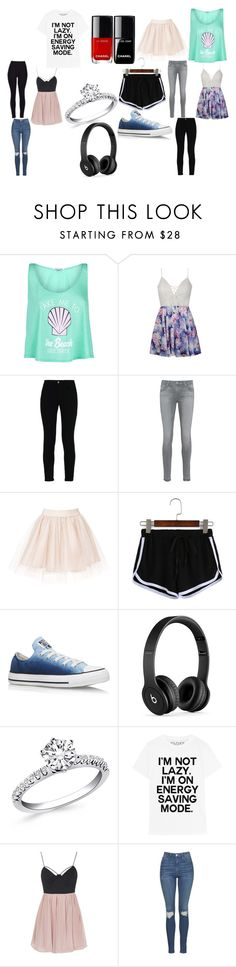 """""""Lily's stuff"""" by adara-omgg-laceup on Polyvore featuring Wildfox, Ally Fashion, STELLA McCARTNEY, AG Adriano Goldschmied, Converse, Beats by Dr. Dre and Topshop"""