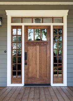 House windows and doors - Minimalist Decoration Ideas Front Doors With Windows, Wood Front Doors, Front Door Colors, House Windows, Garage Doors, Wood Windows, Glass For Windows, Windows For Home, Back Doors