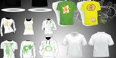 25 Gambar Desain Baju Kaos yang dapat Di Edit Menjadi Lebih Cantik | Update Area