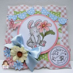 Spring card hand made by Craftin Suzie using Crafty Sentiments image