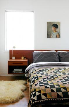 Bedroom in Morgan Satterfield's California house