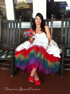 """say+yes+to+the+dress+rainbow+tulle 