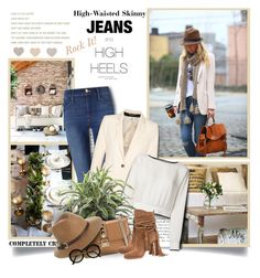 """Rock It! High-Waisted Skinny Jeans"" by thewondersoffashion ❤ liked on Polyvore featuring Truths, Andrea, Frame Denim, DAY Birger et Mikkelsen, Theory, Valentino, Michael Kors, Rusty and H&M"
